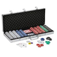 Fat Cat 500-count Texas Hold'em Dice Poker Chip Set