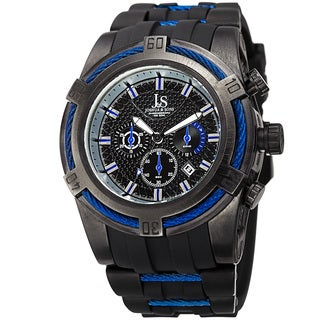 Joshua & Sons Men's Quartz Chronograph Blue Strap Watch