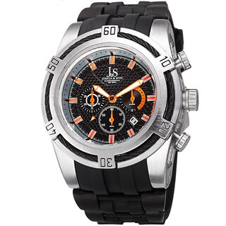 Joshua & Sons Men's Quartz Chronograph Silver-Tone Strap Watch
