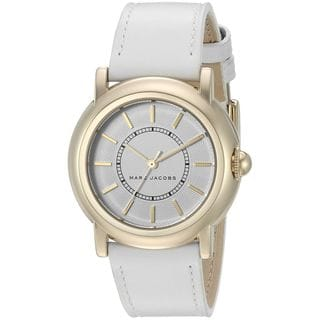Marc Jacobs Women's MJ1449 'Courtney' White Leather Watch|https://ak1.ostkcdn.com/images/products/12330085/P19161775.jpg?impolicy=medium