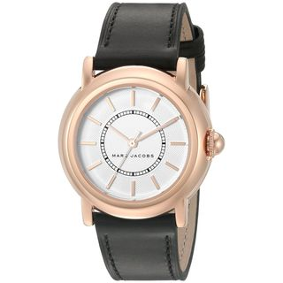 Marc Jacobs Women's MJ1450 'Courtney' Black Leather Watch