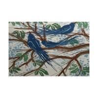 2 x 3-Feet Jays, Floral Print Indoor/Outdoor Rug