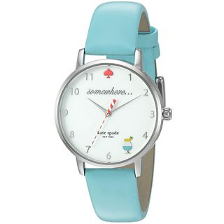 Kate Spade Women's KSW1104 'Metro' Happy Hour Margarita Blue Leather Watch