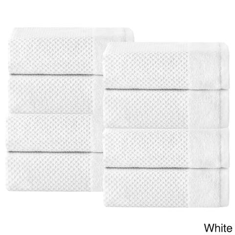 Incanto Luxurious Turkish Cotton Wash Cloth (Set of 8) - Washcloths 12 x 12