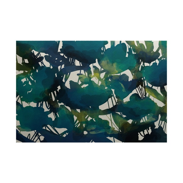 2 X 3 Feet Abstract Fl Print Indoor Outdoor Rug Free Shipping Today 12330106