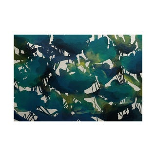 2 x 3-Feet, Abstract Floral, Floral Print Indoor/Outdoor Rug
