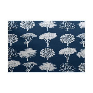 2 x 3-Feet, Field of Trees, Floral Print Indoor/Outdoor Rug