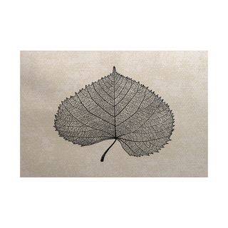 2 x 3-Feet, Leaf Study, Floral Print Indoor/Outdoor Rug