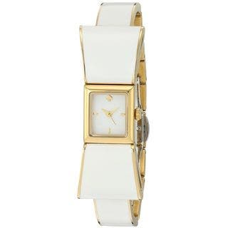Kate Spade Women's KSW1111 'Kenmare' White Stainless steel and Leather Watch|https://ak1.ostkcdn.com/images/products/12330145/P19161906.jpg?impolicy=medium