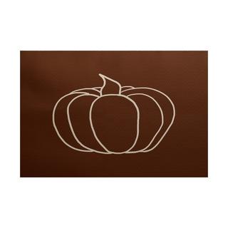 2 x 3-Feet, Pumpkin Pie, Geometric Print Indoor/Outdoor Rug