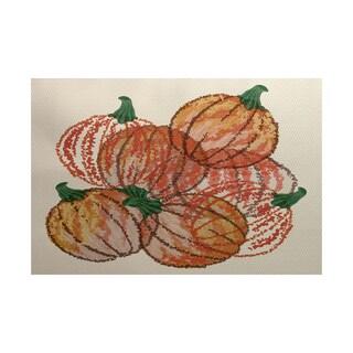 2 x 3-Feet, Pumpkin Pile, Geometric Print Indoor/Outdoor Rug