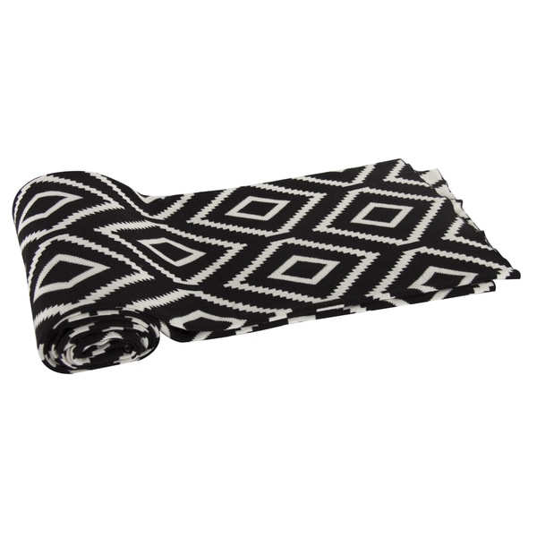 Black Cotton Cashmere Blend Throw