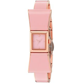 Kate Spade Women's KSW1112 'Kenmare' Pink Stainless steel and Leather Watch