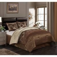 Nanshing Evan Brown Polyester 4-piece Comforter Set