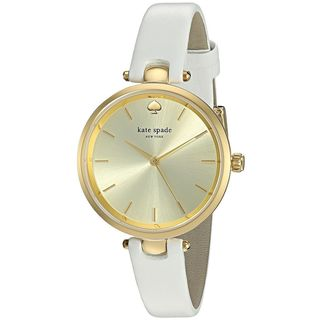 Kate Spade Women's KSW1117 'Holland' White Leather Watch