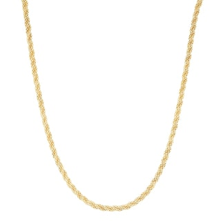 Gioelli 14k Gold 20-inch Sparkle Popcorn Chain Necklace