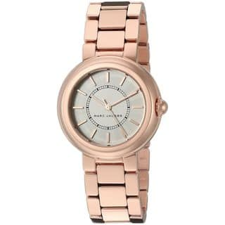 Marc Jacobs Women's MJ3466 'Courtney' Rose-Tone Stainless Steel Watch|https://ak1.ostkcdn.com/images/products/12330287/P19161975.jpg?impolicy=medium
