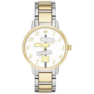 Kate Spade Women's KSW1129 'Metro' Novelty Sign Post Two-Tone Stainless Steel Watch