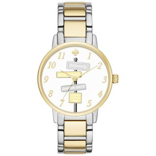 Kate Spade Women's 'Metro' Novelty Sign Post Two-Tone Stainless Steel Watch
