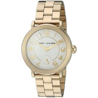 Marc Jacobs Women's MJ3470 'Riley' Gold-Tone Stainless Steel Watch|https://ak1.ostkcdn.com/images/products/12330316/P19161980.jpg?impolicy=medium
