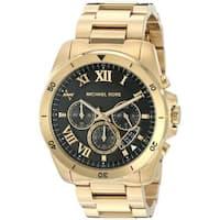 Michael Kors Men's  'Brecken' Chronograph Stainless Steel Watch - Gold/Black