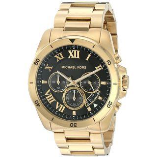 Michael Kors Men's MK8481 'Brecken' Chronograph Stainless Steel Watch - Gold/Black