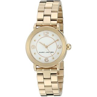Marc Jacobs Women's MJ3473 'Riley' Gold-Tone Stainless Steel Watch
