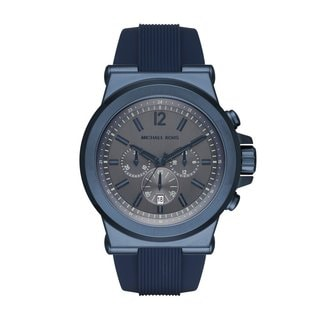 Michael Kors Men's MK8493 'Dylan' Chronograph Blue Silicone Watch