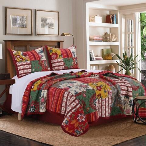 Greenland Home Fashions Arcadia Cotton 3-Piece Quilt Set - Multi