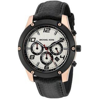 Michael Kors Men's MK8489 'Caine' Chronograph Black Leather Watch