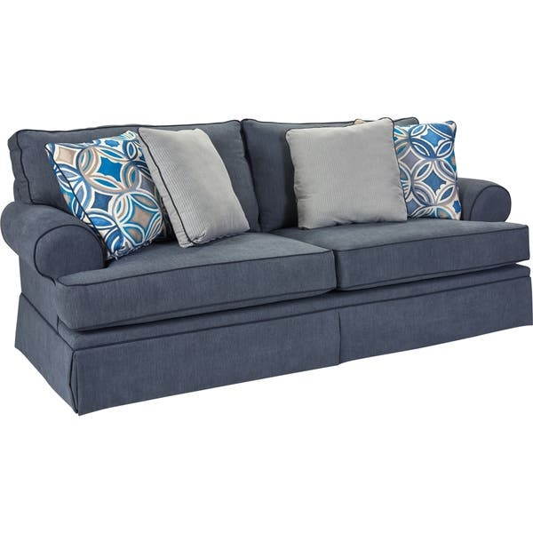 Superb Shop Broyhill Emily Sofa In Blue Free Shipping Today Ibusinesslaw Wood Chair Design Ideas Ibusinesslaworg
