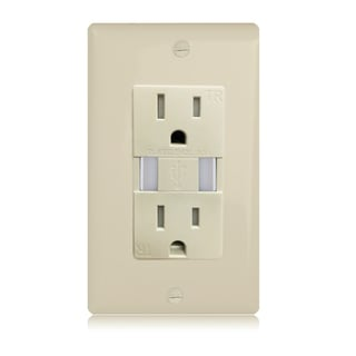 Maxxima Dual USB 3.1-amps Charger Wall Outlet Receptacle
