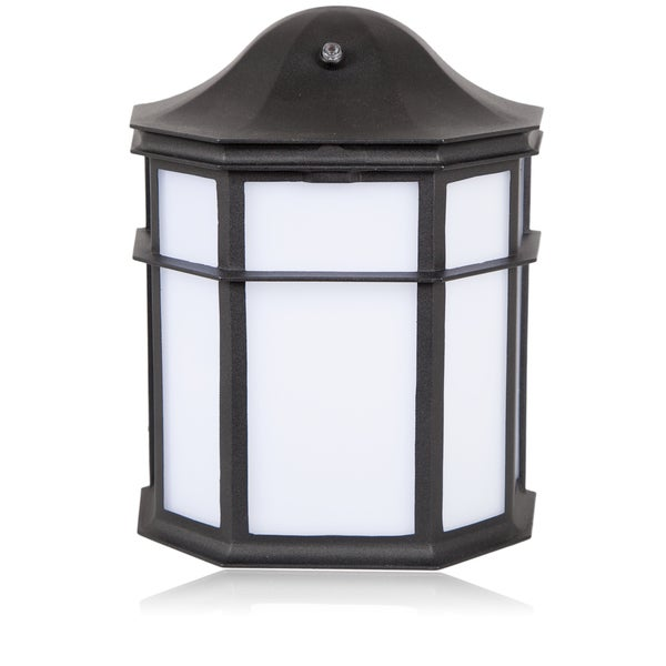 maxxima decorative outdoor led wall pack light with dusk. Black Bedroom Furniture Sets. Home Design Ideas