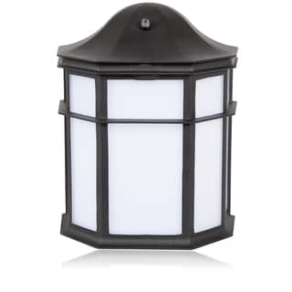 Maxxima Decorative Outdoor LED Wall Pack Light with Dusk to Dawn Sensor