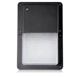 Maxxima Rectangular Outdoor LED Wall Pack Light with Dusk to Dawn Sensor