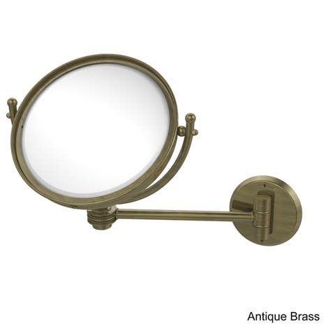 Allied Brass 8-inch Wall-mounted Makeup Mirror with 2X Magnification
