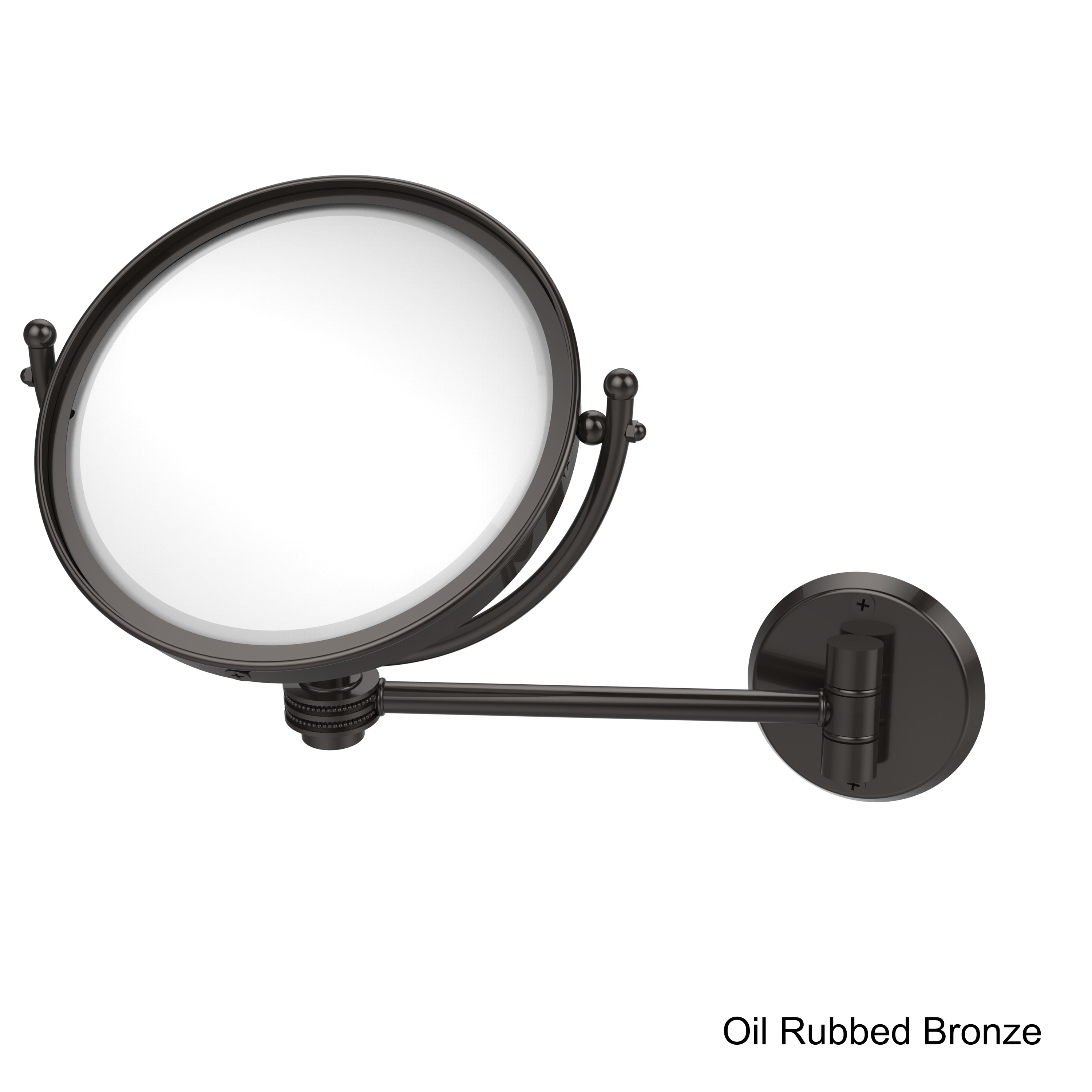 Allied Brass 8 Inch Wall Mounted Makeup Mirror With 3x Magnification Overstock 12330407