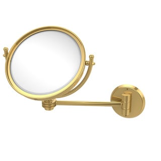 Allied Brass 8-inch Wall-mounted Makeup Mirror with 3x Magnification