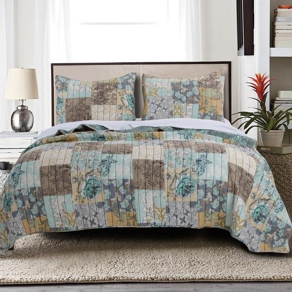 Shop Greenland Home Fashions Elle Cotton 3-Piece Quilt Set