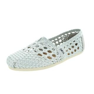 Toms Women's Classic Silver Satin Casual Shoe