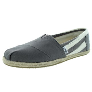 Toms Women's Classic Dk Grey Stripe University Casual Shoe