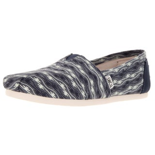 Toms Women's Classic Blue Canvas Wave Casual Shoe