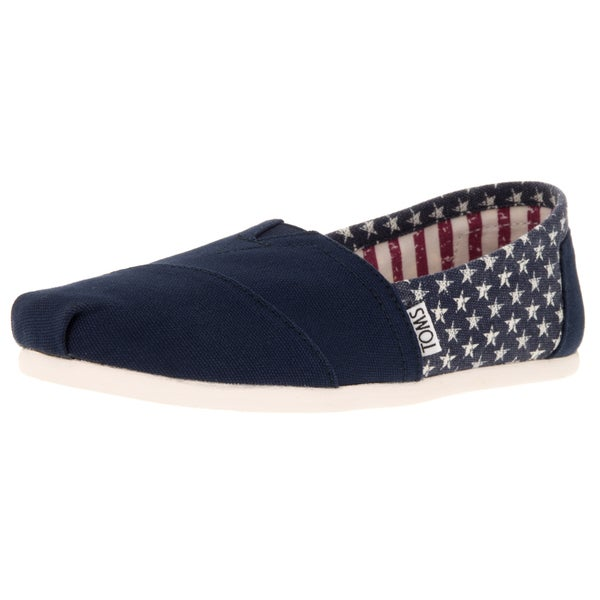 4d716ccc907 Shop Toms Women s Classic Americana Navy Canvas Stars Casual Shoe ...