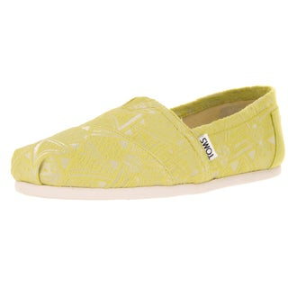 Toms Women's Classic Citron Neon Casual Shoe