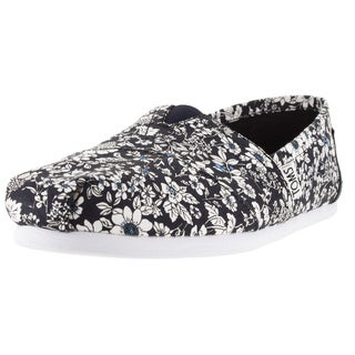 Toms Women's Classic Navy Floral Casual Shoe