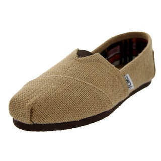 Toms Women's Natural Burlap Classics Natural Burlap Casual Shoe