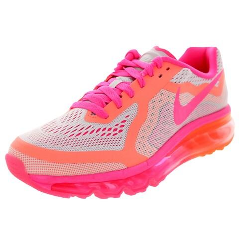 Nike Kid's Air Max 2014 (Gs) Pr Platinum/Pink/Brightt Magenta Running Shoe