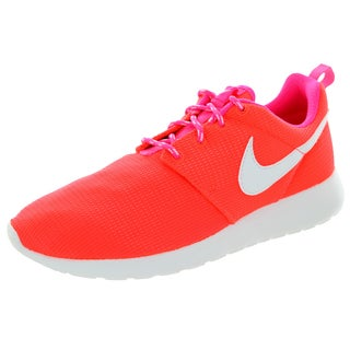 Nike Kids Rosherun (Gs) Lava/Glow/White/Pink Pow Running Shoe
