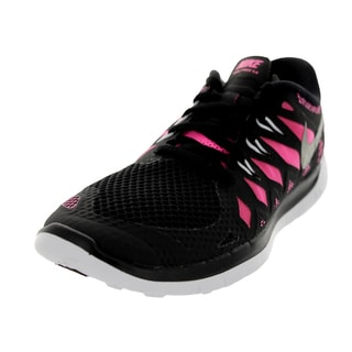Nike Kids Free 5.0 (Gs) Black/Mlc Silver/Pink Glw/White Running Shoe
