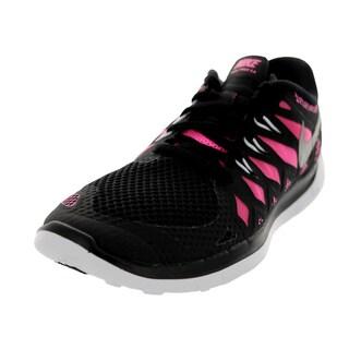 Nike Kids Free 5.0 (Gs) Black/Mlc Silver/Pink Glw/White Running Shoe
